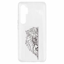 Чохол для Xiaomi Mi Note 10 Lite Low poly lion head