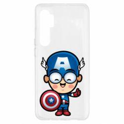 Чехол для Xiaomi Mi Note 10 Lite Маленький Капитан Америка