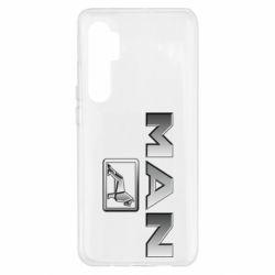 Чехол для Xiaomi Mi Note 10 Lite Man logo and lion