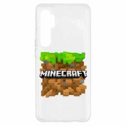 Чохол для Xiaomi Mi Note 10 Lite Minecraft Main Logo