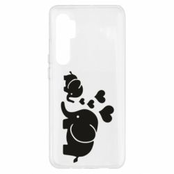 Чехол для Xiaomi Mi Note 10 Lite Mom and baby elephants