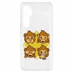 Чехол для Xiaomi Mi Note 10 Lite Monkey See Hear Talk