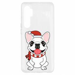 Чехол для Xiaomi Mi Note 10 Lite New Year's French Bulldog