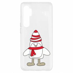 Чехол для Xiaomi Mi Note 10 Lite Penguin in the hat and scarf