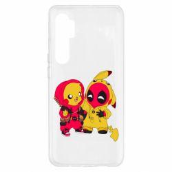 Чехол для Xiaomi Mi Note 10 Lite Pikachu and deadpool