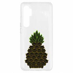 Чехол для Xiaomi Mi Note 10 Lite Pineapple cat