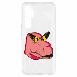 Чехол для Xiaomi Mi Note 10 Lite Pink dinosaur with glasses head