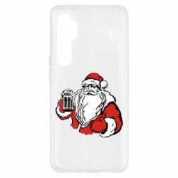 Чехол для Xiaomi Mi Note 10 Lite Santa Claus with beer