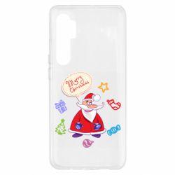 Чехол для Xiaomi Mi Note 10 Lite Santa says merry christmas