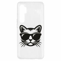 Чехол для Xiaomi Mi Note 10 Lite Сat in sunglasses