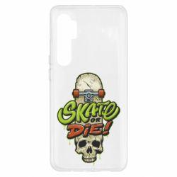 Чохол для Xiaomi Mi Note 10 Lite Skate or die skull