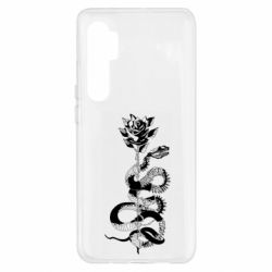 Чохол для Xiaomi Mi Note 10 Lite Snake and rose