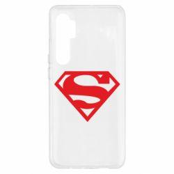 Чехол для Xiaomi Mi Note 10 Lite Superman одноцветный
