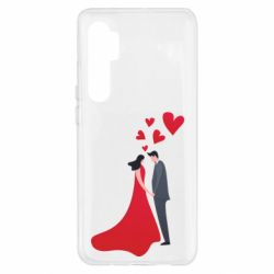 Чехол для Xiaomi Mi Note 10 Lite The guy and the girl in the red dress love