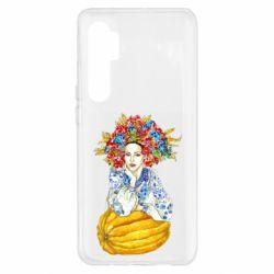 Чохол для Xiaomi Mi Note 10 Lite Українка в вінку і вишиванці