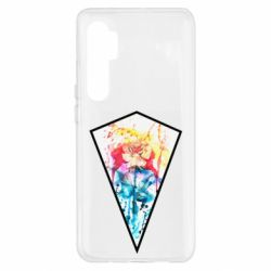 Чехол для Xiaomi Mi Note 10 Lite Watercolor flower in a geometric frame