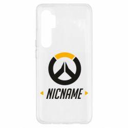 Чехол для Xiaomi Mi Note 10 Lite Your Nickname Overwatch