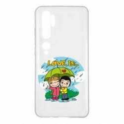 Чохол для Xiaomi Mi Note 10 Love is ... in the rain