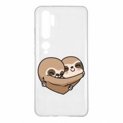 Чехол для Xiaomi Mi Note 10 Love sloths