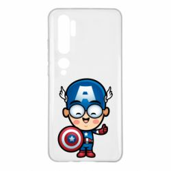 Чехол для Xiaomi Mi Note 10 Маленький Капитан Америка