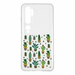Чехол для Xiaomi Mi Note 10 Many cacti