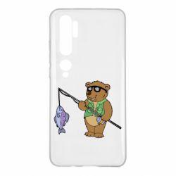 Чохол для Xiaomi Mi Note 10 Ведмідь ловить рибу