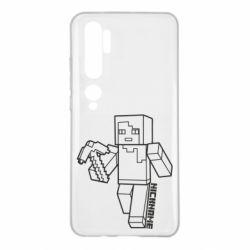 Чехол для Xiaomi Mi Note 10 Minecraft and hero nickname