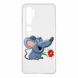 Чехол для Xiaomi Mi Note 10 Mouse with a flower