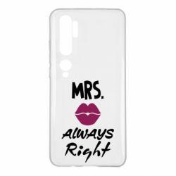 Чохол для Xiaomi Mi Note 10 Mrs. always right