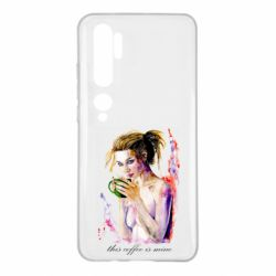 Чехол для Xiaomi Mi Note 10 Naked girl with coffee