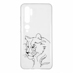 Чехол для Xiaomi Mi Note 10 Outline drawing of a lion