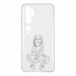 Чехол для Xiaomi Mi Note 10 Outline drawing of a little girl