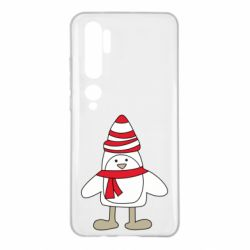 Чехол для Xiaomi Mi Note 10 Penguin in the hat and scarf