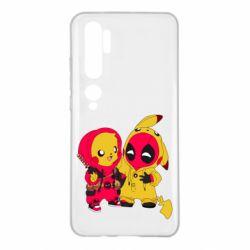 Чехол для Xiaomi Mi Note 10 Pikachu and deadpool