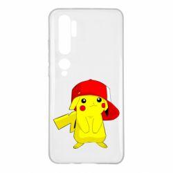Чехол для Xiaomi Mi Note 10 Pikachu in a cap
