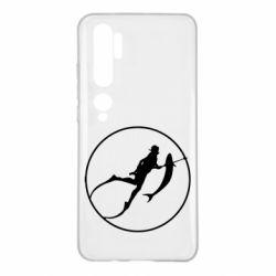 Чехол для Xiaomi Mi Note 10 Подводная охота