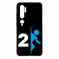 Чехол для Xiaomi Mi Note 10 Portal 2 logo