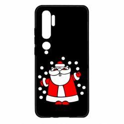 Чехол для Xiaomi Mi Note 10 Прикольный дед мороз