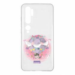 Чехол для Xiaomi Mi Note 10 Принцесса на воздушном шаре