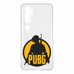 Чехол для Xiaomi Mi Note 10 PUBG logo and game hero