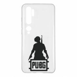 Чехол для Xiaomi Mi Note 10 PUBG logo and hero