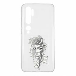 Чехол для Xiaomi Mi Note 10 Rose with a girl's face