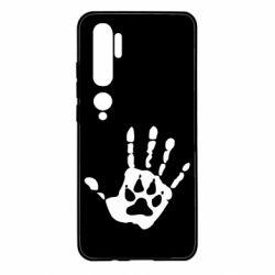 Чехол для Xiaomi Mi Note 10 Рука волка