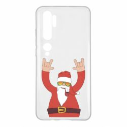 Чохол для Xiaomi Mi Note 10 Santa Claus with a tube