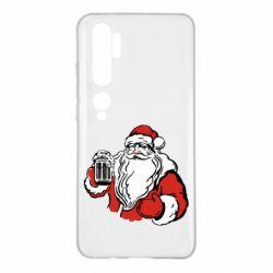 Чехол для Xiaomi Mi Note 10 Santa Claus with beer