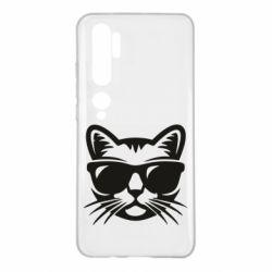 Чехол для Xiaomi Mi Note 10 Сat in sunglasses