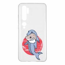 Чехол для Xiaomi Mi Note 10 Shark or dolphin