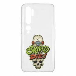Чохол для Xiaomi Mi Note 10 Skate or die skull