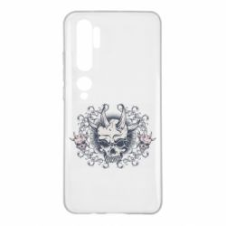 Чохол для Xiaomi Mi Note 10 Skull with horns and patterns