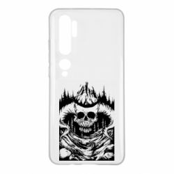 Чехол для Xiaomi Mi Note 10 Skull with horns in the forest